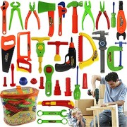 Bfeplfashion Kids Play Pretend Toy Tool Set Workbench Construction Workshop Toolbox Tools
