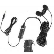 Pachet Boya BY-M1DM microfon lavaliera dubla+Rycote sticker pentru lavaliera (pachet de 100)