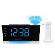 Ébresztőórás rádió, PLL FM, LCD kijelző, idő- és hőmérsékletkivetítés, CRP81USB