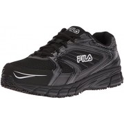 Fila Men s Memory Reckoning 7 Work Slip Resistant Steel Toe Running Shoe Black/black/metallic Silver 8.5 D(M) US