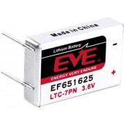 Baterie litiu LTC-7PN cu pini de lipire, 3,6 V, 750 mAh, EVE