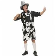 Oktoberfest lederhose met koeienprint