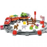 Set Ecoiffier Constructii Abrick Country Train
