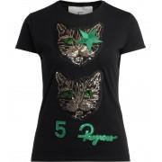 5 PROGRESS T-shirt 5 Progress Double Cat nera