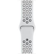 Curea Smartwatch Apple Nike Sport Band pentru Apple Watch 40mm (Alb/Negru)