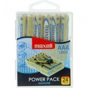 Алкални батерии MAXELL LR03 1,5V AAA 24 бр. блистер PVC case - ML-BA-LR03-24PK
