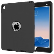 My Little Pony Ipad Pro 9. 7 Case, Y&M(Tm) Extreme Military Heavy Duty Waterproof Dust/Shock Proof with Stand Hang Cover Tablets Hybrid Hard Army Case for Case(Black/Black)