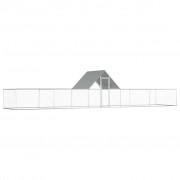 vidaXL Kokošinjac od pocinčanog čelika 10 x 2 x 2 m