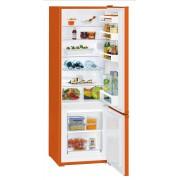Combina frigorifica Liebherr CUno 2831, 265 L, SmartFrost, Control mecanic, 2 sertare legume, Raft sticle, H 161.2 cm, A++, Neon orange