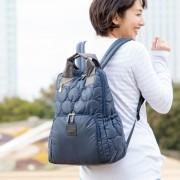 PLY キルティング コンビ リュック【QVC】40代・50代レディースファッション