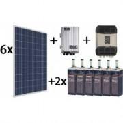 Kit Solar Top De 7000wh/día De 24v Con Inversor Senoidal De 2400w Stud