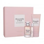 Abercrombie & Fitch Authentic set cadou apa de parfum 100 ml + apa de parfum 15 ml + lotiune de corp 200 ml pentru femei