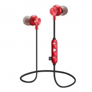 JEDX-14M Portable In-ear Waterproof Magnetic DSP Noise Reduction Bluetooth 4.1 Earphone with Mic Support TF Card for iPhone Samsung - Red
