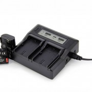 Canon Ruibo Dual Digital LCD Quick Charger for LP-E6 LP-E6N for Canon EOS 80D 70D 60D 6D 7D