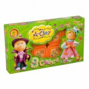 Plastilina modelaj Orange Elephant Girl and Boy 8 culori