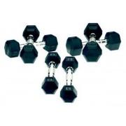 Gantere Tunturi 11TUSCL019, cauciuc, 2 x 5 Kg