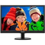 "Monitor TN LED Philips 19.5"" 203V5LSB26/10, HD Ready (1366 x 768), VGA, 5 ms (Negru)"