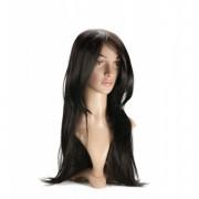 LOVE AND VIBES Perruque Cheveux Bruns Longs Raides Dégradés