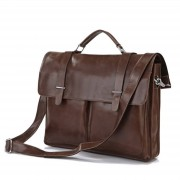 Delton Bags Bruine Vintage Leren Tas