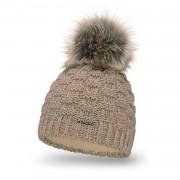 Standardowa czapka damska kostka PaMaMi - Kawa z mlekiem