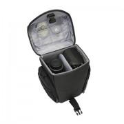 Nikon Pedea - Borsa per fotocamere Nikon D5100 e D3100, con spazio per corpo e obiettivo, tracolla e 3 scomparti per accessori, pellicola protettiva per display inclusa, apertura frontale