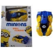 6th Dimensions Toys Wall Climber Car Radio Control Zero Gravity Wall Climbing RC Car (Blue)