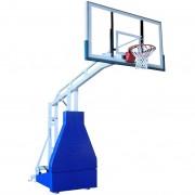 Мобилна баскетболна конструкция за зала с електрическа хидравлична система