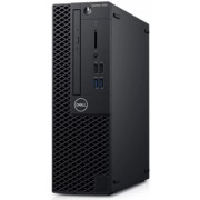 Calculator Sistem PC Dell OptiPlex 3060 SFF (Procesor Intel® Core™ i3-8100 (6M Cache, up to 3.60 GHz), Coffee Lake, 4GB, 128GB SSD, Intel® UHD Graphics 630, Linux, Negru)