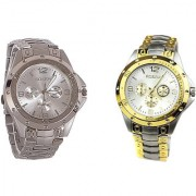 ROSARA COMBO WATCHES SILVER-GOLDEN FOR MEN BY MISS