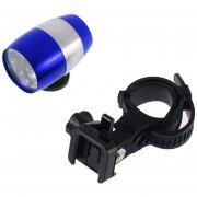 ER 6 LED De Ciclismo De Bicicletas Cabeza Frente Luz De Flash Advertencia Impermeable Seguridad De La Lámpara (Azul).