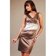 Oriana sukienka (brązowo-ecru)