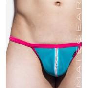 Mategear Hyun Jun Mesh Net Front Slit Mesh Series Xpression Mini G String Swimwear Deep Sky Blue 1720402