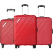 Safari Harbour Anti-Scratch (Combo Set of 3 Red Small, Medium & Large) Check-in Luggage - 30 inch(Red)