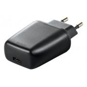Deltaco Väggladdare 240V till 5V USB, 3A/15W, 1xUSB-C, svart