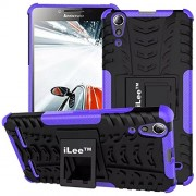iLee Premium Kickstand Dazzle Back Cover for Lenovo K3 A6000 - Color: Purple (12 Months Warranty)