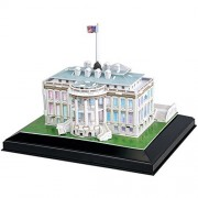 White House Cubic 3 D Puzzle Model Led Lighting 1600 Pennsylvania Avenue Dc