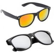 Elligator Wayfarer Sunglasses(Yellow, Silver)