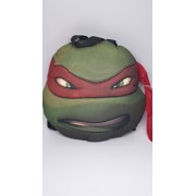 TMNT Ninja Turtles Turtle Head Plush Doll Backpack Raphael Red Costumes Bag