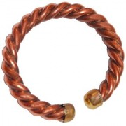 Men Style ArtificialRope Religious Plain 10 mm Thickness Brown Copper Round Kada For Men And Women
