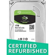 Seagate 1TB BarraCuda SATA 6Gb/s 32MB Cache 3.5-Inch Internal Hard Drive (ST1000DM010) (Renewed)