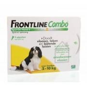 Frontline Combo hond S 2-10kg bestrijding vlo en teek 3st