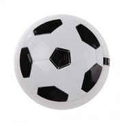 HATCHMATIC 18CM Funny Football Toys Boy Home Game LED Light Flashing Ball Toy Air Power Soccer Balls Stress Ball Kid Boy Indoor World Cup: White with Music
