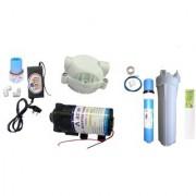 EarthRoSystem Service pump1 X Smps(24 v) 1x Solenoid Valve (Sv) 24 V 1 x pump(75 GPD) 4 x elbow 1 taflon tape 1 prefilter 1 spun(pp) 5meter pipe membrane 1 pump head