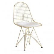 Replica Ray & Charles Eames Eiffel Wire Chair - Gold - various colour seat cushion only