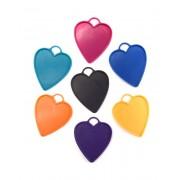 Liragram Peso para globos de 15 g con forma de corazon - Color Naranja