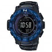 Casio PRO TREK Triple Sensor TOUGH SOLAR Titanium Watch PRW-3500SYT-1 - Black + Blue