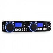 Ibiza Reproductor dual IDJ2 DJ USB, SD. Compatible MP3.