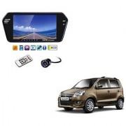 7 Inch Full HD Bluetooth LED Video Monitor Screen with USB Bluetooth + 8 LED Reverse Parking Camera For Maruti Suzuki Wagon R