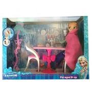 Frozen Glam Dining Room Furniture & Frozen Doll Set (Anna)