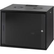 RACK, MIRSAN MR.WTC09U45.01, Сървърен шкаф за мрежово оборудване - 540 x 440 x 450 мм, 9U, черен, за стена, ComboBox